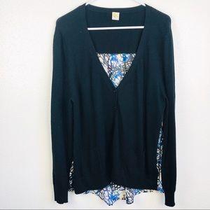 Anthropologie | Yellow Bird Thin Sweater Pockets